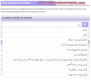 World's Largest Online English to Urdu Dictionary Launched