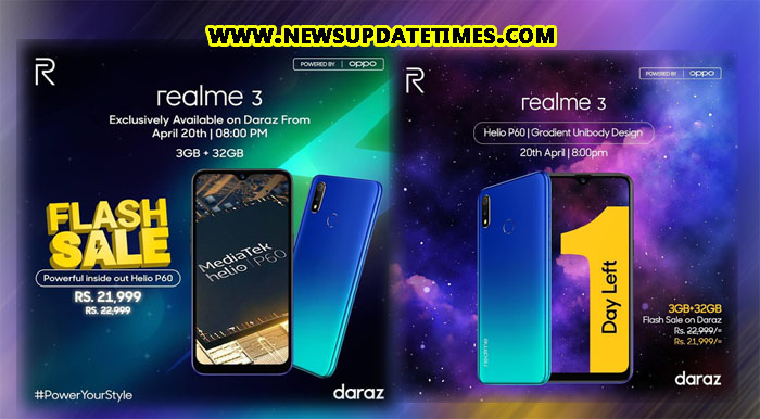 ee7e78124 Realme 3 will be Daraz exclusive and can be purchased with Instant Discount  of PKR 21