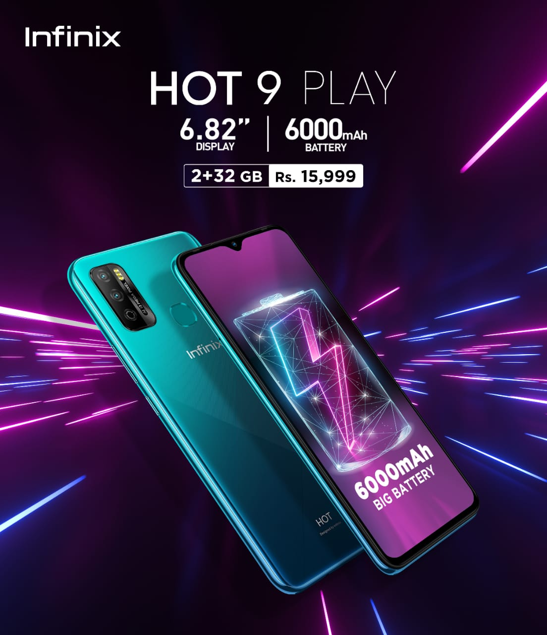 Infinix Launches Hot 9 play with Massive6000 mAhBattery - News Update Times