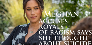 Meghan accuses royals of racism