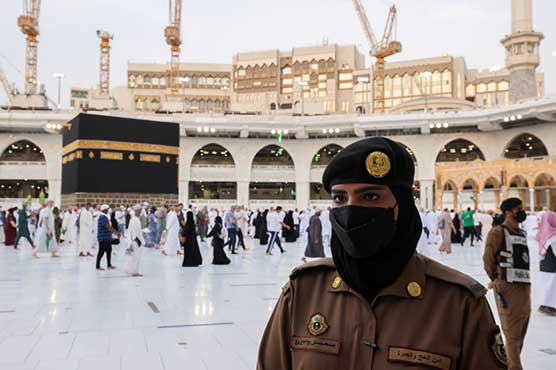 For the first Time, Saudi women stand guard in Makkah during HAJJ.