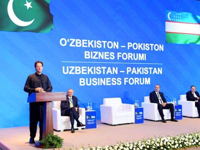 Imran in Tashkent for regional connectivity talks